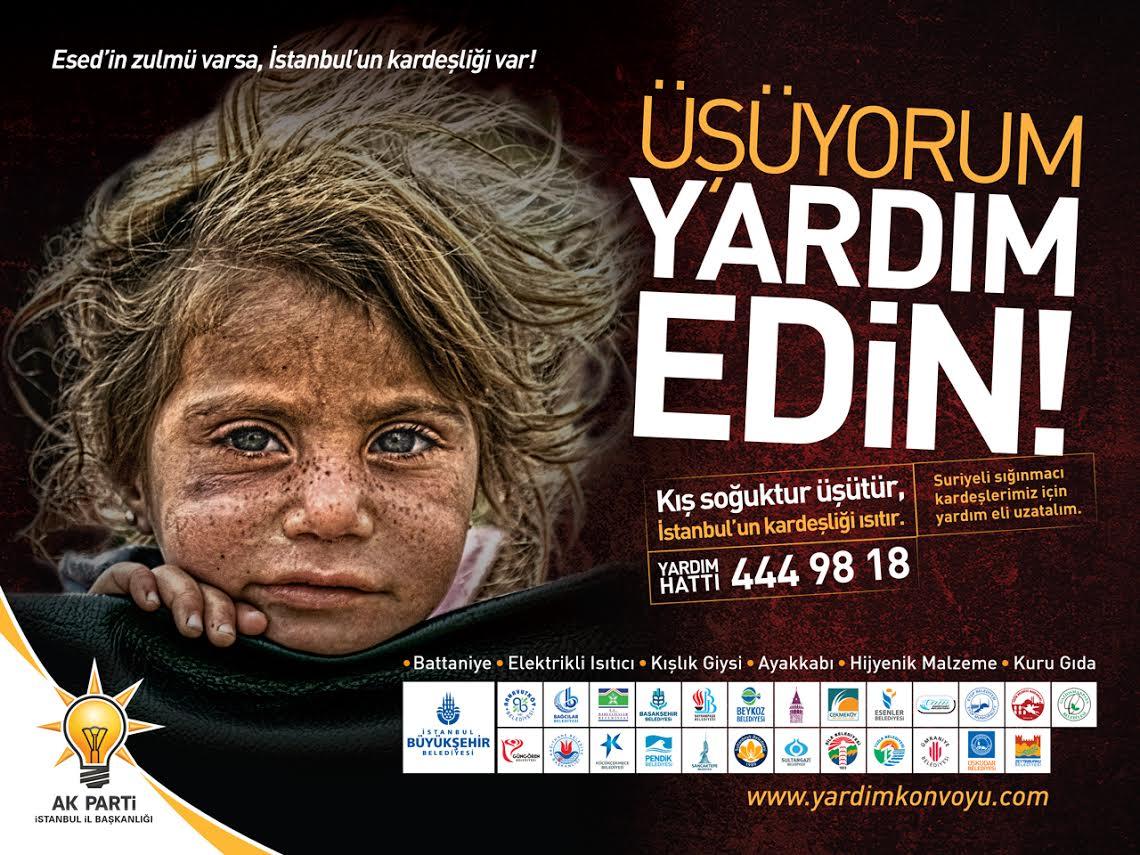 AK Parti İstanbul'dan Suriyeliler için kampanya