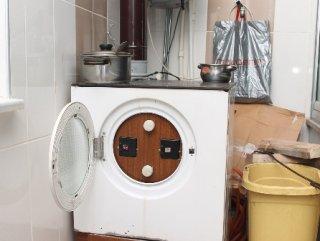 Çamaşır makinesini kolorifer kazanına çevirdi