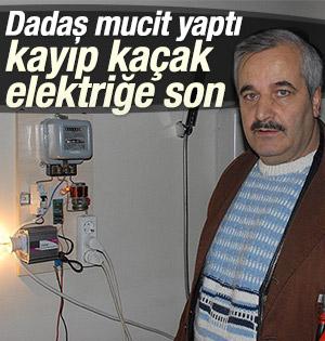 Dadaş mucitten kayıp kaçak elektriğe önlem