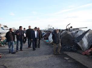 Altınok Öz'den Balıkçılara Geçmiş Olsun Ziyareti