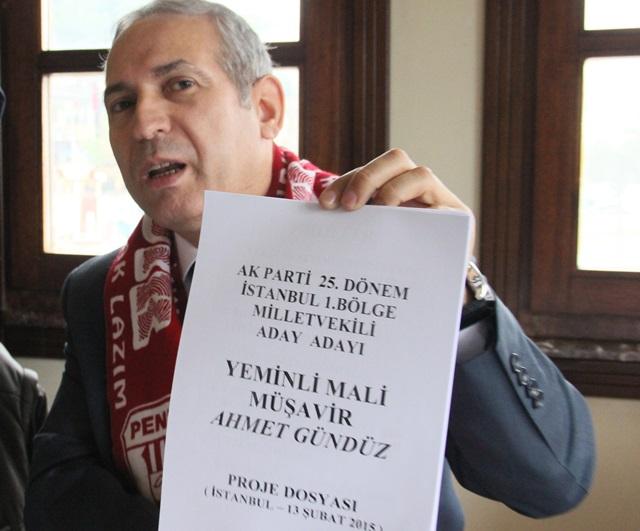 Ahmet Gündüz, 30 Sayfalık Projesini Anlattı