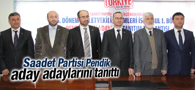 Pendik Saadet Milletvekili Aday adaylarını Açıkladı