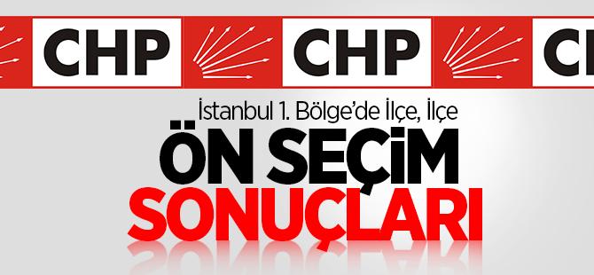 Chp İstanbul 1. Bölge İlçe, İlçe Ön Seçim Sonuçları
