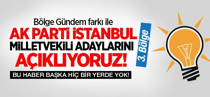 Ak Parti İstanbul 3. Bölge Milletvekil Adayları Listesi