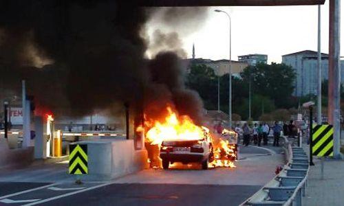 Elektrik Kontağından Çıkan Yangın Otomobili Kül Etti.
