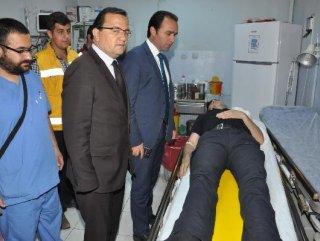 Polis aracı Van'da kaza yaptı: 17 polis yaralı