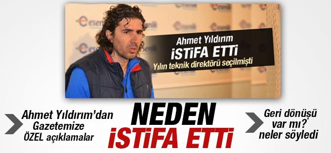 Pendikspor Teknikdirektörü Ahmet Yıldırım Neden İstifa etti