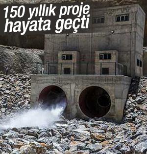Konya Ovası Projesi Mavi Tünel ile ovaya akmaya başladı