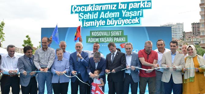 Kosovalı Şehid Adem Yaşari Parkı Açıldı