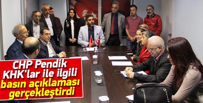 CHP Pendik KHK'lar ile ilgili basın açıklaması gerçekleştirdi