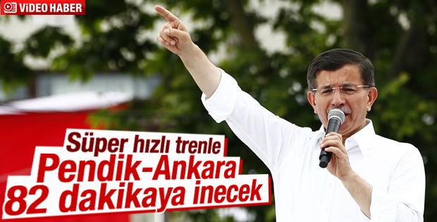 Başbakan Davutoğlu'ndan süper hızlı tren müjdesi
