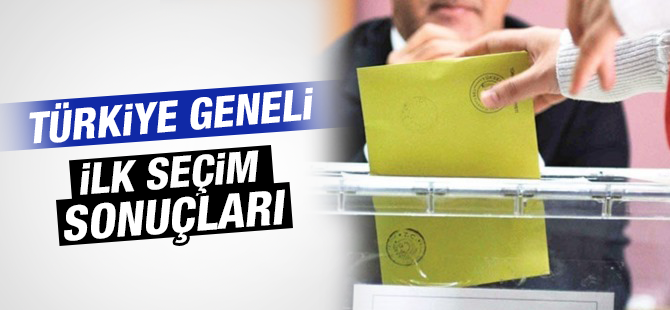 Türkiye Genelinde Sandıkların yüzde 99 açıldı