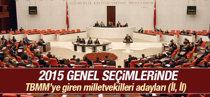 TBMM'ye Giren Milletvekili Adayları 2015