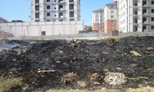 Esenler Mahallesinde Ot Yangını