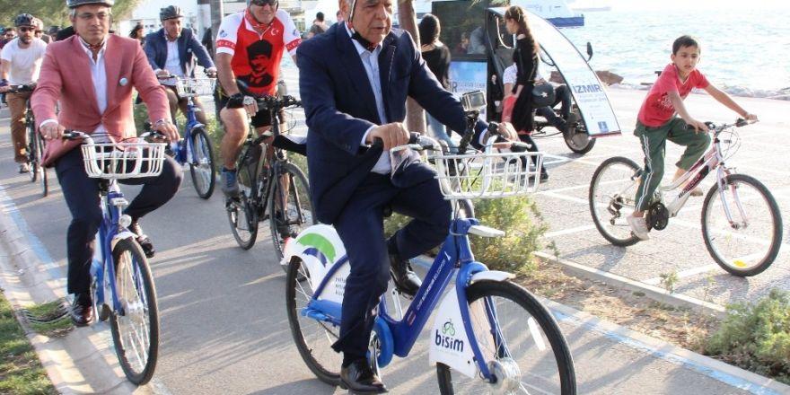 Başkanlar İzmir için pedal çevirdi
