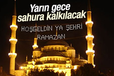 İslam Alemi Yarın Sahura Başlıyacak