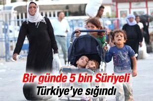 5 binden fazla Suriyeli sınırı geçti