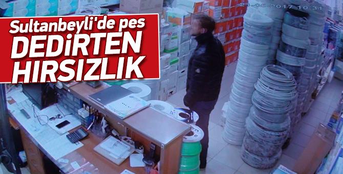 Sultanbeyli'de pes dedirten hırsızlık