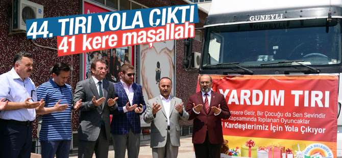 Tuzla Belediyesi, 44. Yardım TIR'ını Gönderdi