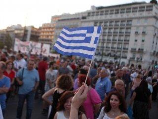 Yunanistan'da Çipras'a destek gösterisi