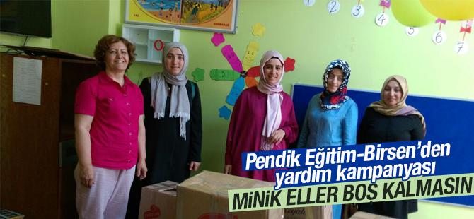 Pendik Eğitim-Bir-Sen'den Yardım Kampanyası