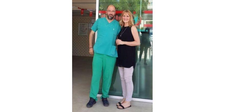 İngiliz hasta Antalya'da sağlığına kavuştu