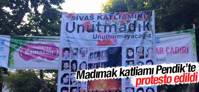 Pendik CHP'den Madımak Protestosu