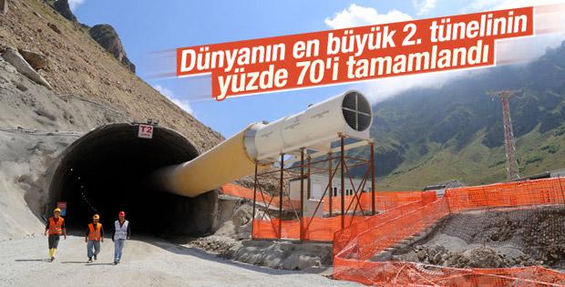 Ovit Tüneli'nin yüzde 70'i tamamlandı