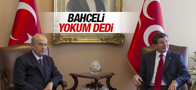 Devlet Bahçeli Koalisyonda Yokum dedi