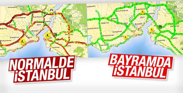 Bayram İstanbul Trafiğini Bitirdi