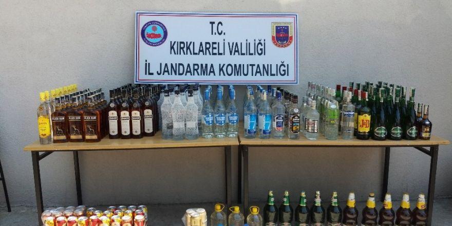 Kırklareli'de 289 şişe kaçak içki ele geçirildi