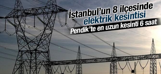 20 Temmuz'da İstanbul'un 8 ilçesinde elektrik kesilecek