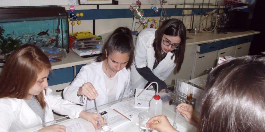 Terakkili genç kimyacılar, laboratuvar kardeşleriyle buluştu
