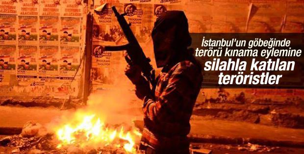 İstanbul'da silahlarla terörü kınama eylemi
