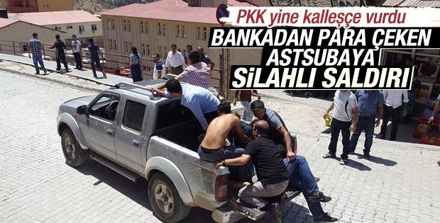 Hakkari'de Bankamatik'ten Para Çeken Astsubaya silahlı saldırı