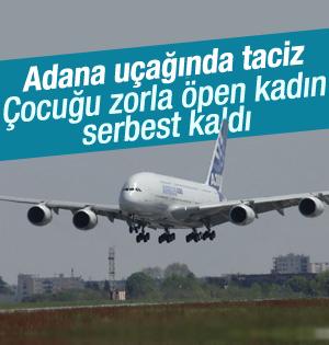 Adana uçağındaki taciz olayında dava düştü