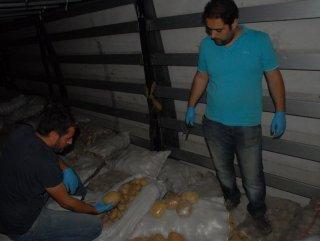 Kırıkkale'de Şüpheli Tır'da 150 kilo eroin yakaladı