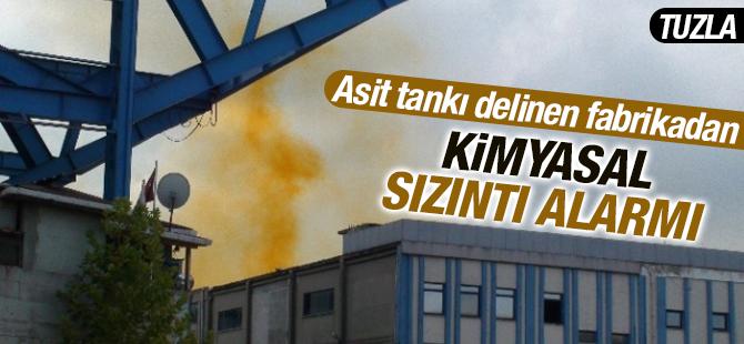 Asit Tankı Delinen Fabrikadan Kimyasal Sızıntı Alarmı