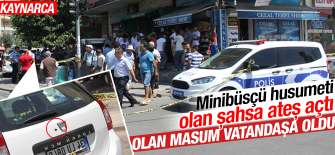 Minibüsçü husumeti olan şahsa ateş açtı: Olan vatandaşa oldu!
