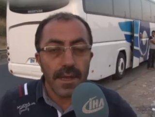 Tepki gören şoför otobüsü otobanda bırakıp kaçtı