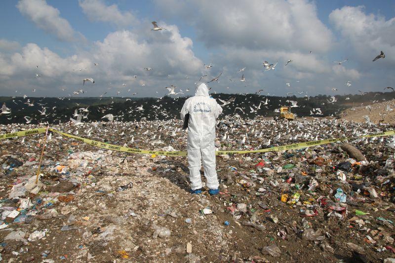 Çöp döküm sahasında ceset bulundu