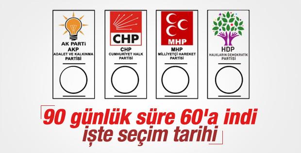 YSK'nın seçim tarihi 1 Kasım