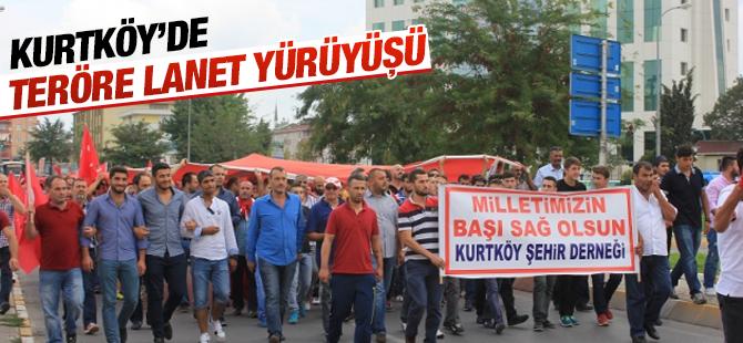 Kurtköy'de Teröre Lanet Yürüyüşü