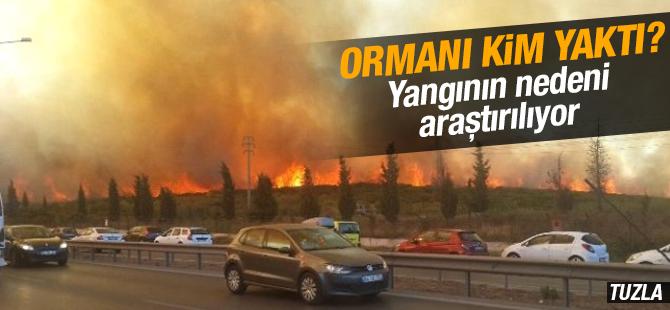 Tuzla'daki Yangının Nedeni Araştırılıyor