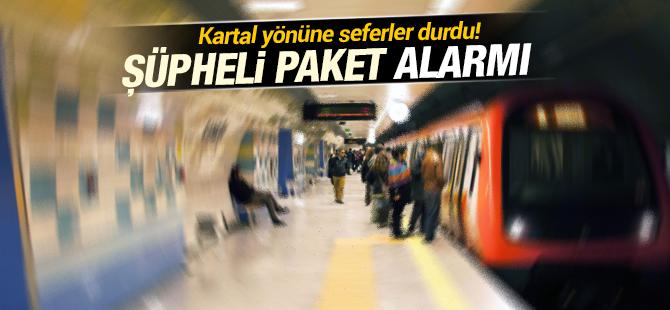 Metro Seferleri Durdu! Kartal Kadıköy Metrosunda Şüpheli paket alarmı