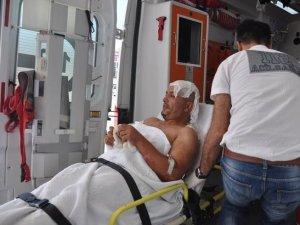 Bursa'da işçinin üzerine sıcak zift döküldü