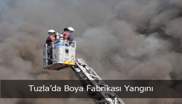 Tuzla´da Boya Fabrikası Yangını