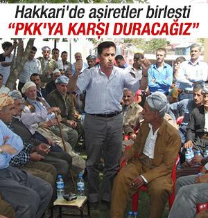 Aşiretler PKK karşı birleşti