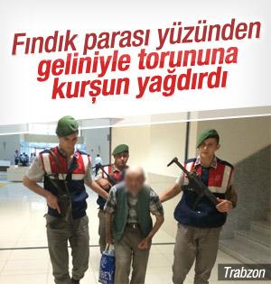 Trabzon'da 83'lük dede Torunlarını Kurşun yağmuruna  tuttu