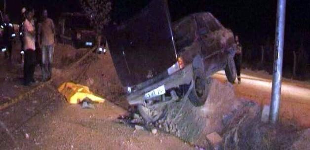 Konya'nın Ereğli ilçesinde kaza Otomobil takla attı
